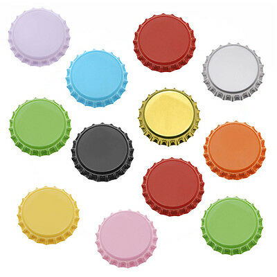 50 Mixed Color Bottle Caps Craft Scrapbook Jewelry (50)