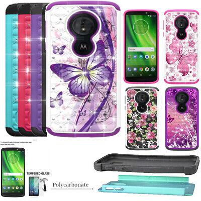 Absorbing Crystal - Phone Case For Verizon Moto E5 Go / E5 Play Shock Absorbing Crystal Cover