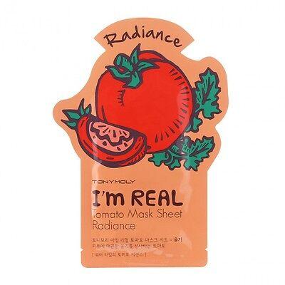 TonyMoly I'm Real Tomato Face Sheet Mask [Radiance] FREE Shipping, from CA, USA