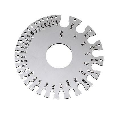 Stainless Steel Round Wire Thickness Measuring Gauge Diameter Gage Tool Ki