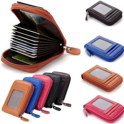(Womens Men Leather Accordion Wallet, Slim Zipper Coin Purse Girl Clutch Case J)