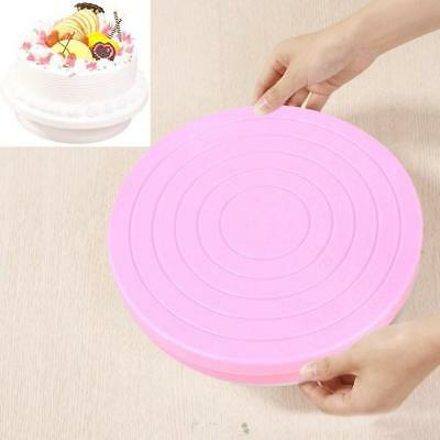 Rotating Revolving Plate Decorating Cake Turntable Display Stand Platform Revolving Cake Stand