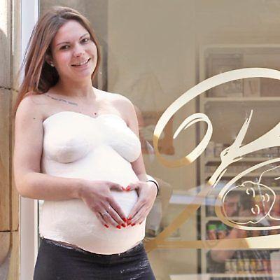 Gipsabdruck Babybauch Set mit Gipsbinden, Vaseline & Anleitung