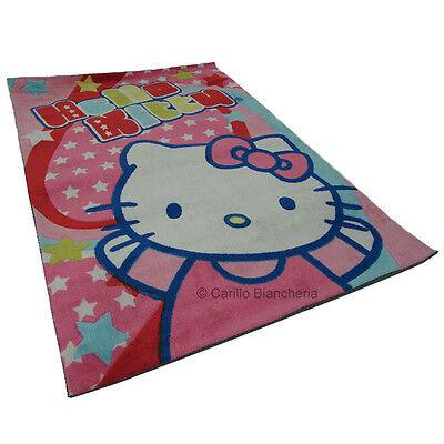 Tappeto Hello Kitty Vasilas arredo cameretta 80x120 cm col. rosa H525