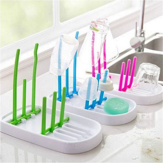 Baby Bottle Drying Rack Feeding Drainer Draining Holder Dryer Clean Gadget S