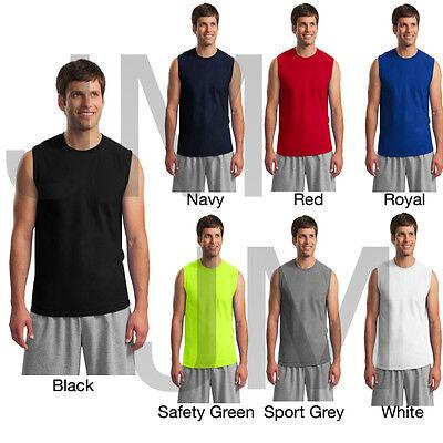 GILDAN 2700 MEN'S TANK TOP S-2XL Ultra Cotton Sleeveless Muscle Tee T-Shirt  Gildan Ultra Cotton Tank Top