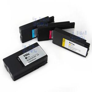 4x Ink Cartridges for HP 950XL 951XL Officejet Pro 8100 8600 plus 8610 8620 8630