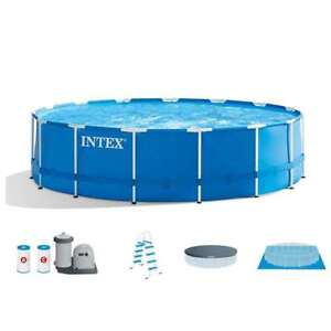 """INTEX ABOVE GROUND POOL 18'  ROUND BY 54"""" DEEP"""