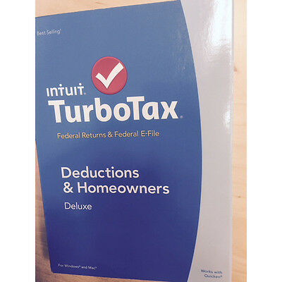 Turbotax Deluxe 2014 Federal   Fed Efile Turbo Tax Preparation Intuit Pc Or Mac
