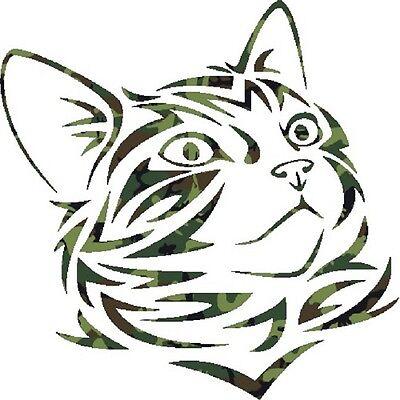 30 Custom Green Camo Kitten Personalized Address Labels