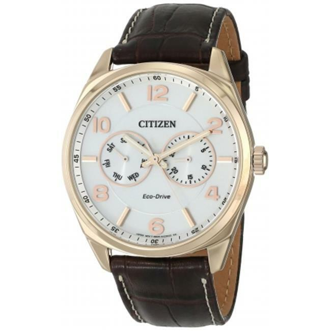 AO9023-01A Citizen Eco-Drive Gold-Tone Leather Mens Watch