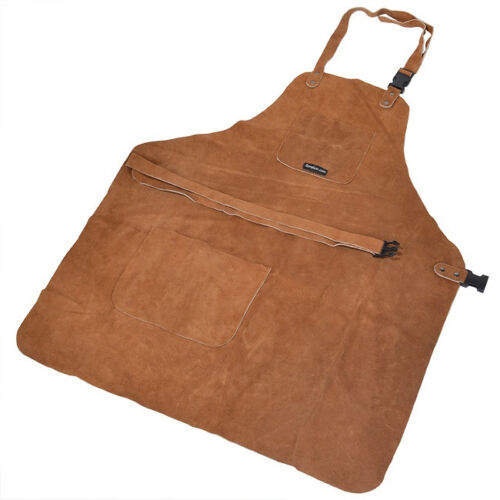 3 Pocket Suede Leather Woodcarvers Woodworkers Chasers Gunsmith Bladesmith Apron