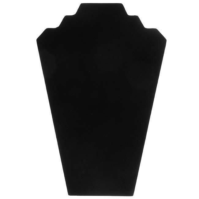 Black Velvet Necklace Easel Jewelry Display (1 Piece)