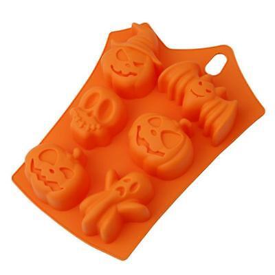 Halloween Theme Silicone Mould Fondant Cake Chocolate Decor Baking Mold CO](Cake Decorating Halloween Theme)
