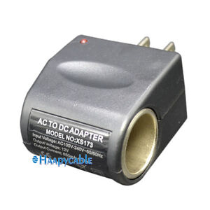 universal ac to dc car cigarette lighter socket adapter  eBay