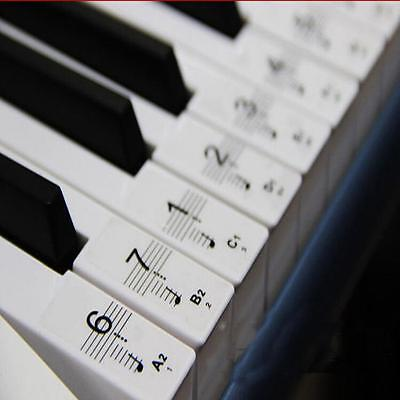 Best Transparent Piano Key Note Keyboard Stickers - Learn Teach to Play Music (Best Keyboard To Learn Piano)