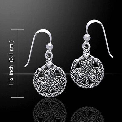 (Celtic Shamrock Irish Claddagh .925 Sterling Silver Earrings by Peter Stone)