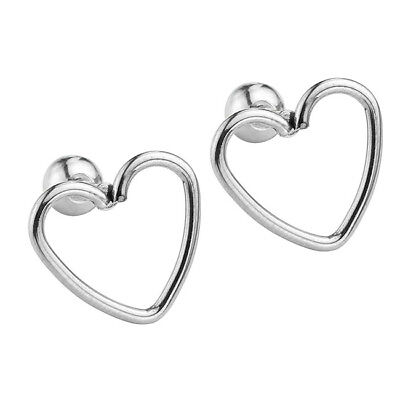 "Pair 16G Steel Love Heart 1/4"" Barbell Ear Tragus Cartilage Helix Stud Earrings for sale  San Leandro"
