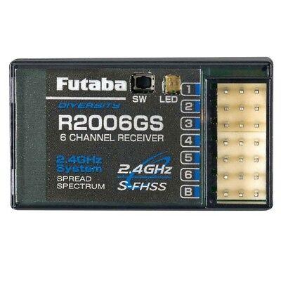Futaba R2006GS 2.4GHz SFHSS 6-Channel Receiver 6J FUTL7606 / 01102200-3 FREE S/H