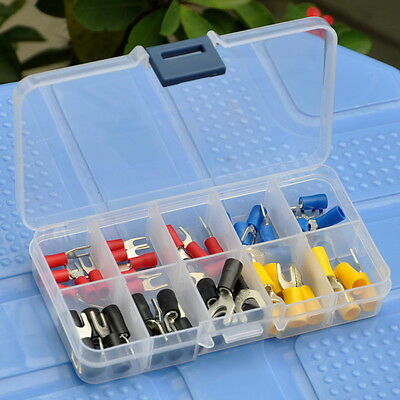 10 Types Spade Crimp Wire Connector Assortment Kit Fork Terminal
