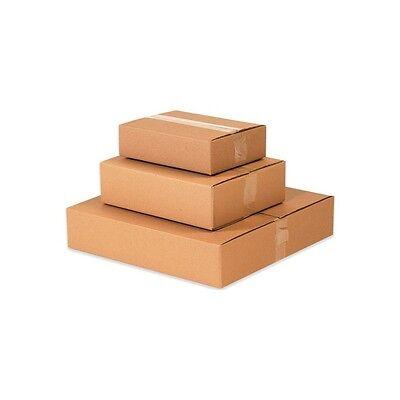 Flat Corrugated Boxes 14 X 14 X 4 Kraft 25bundle