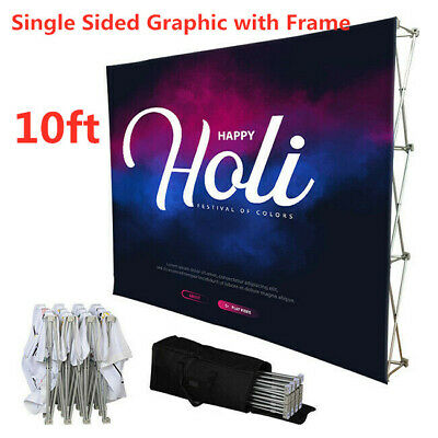 10ft Fabric Tension Display Trade Show Exhibition Backdrop Pop-up Booth Wall