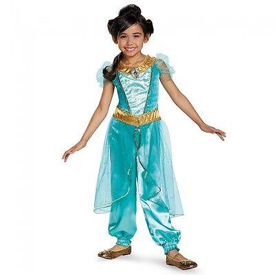 Disguise Prinzessin Jasmin Deluxe Aladdin Disney Mädchen Halloween Kostüm 98494