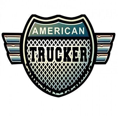AMERICAN TRUCKER Metall Schild 45 cm! LKW Vintage Garage USA Straßenschild V8