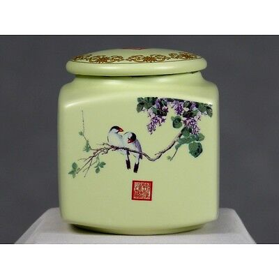 "chinesische Keramik mit Aromaverschluss groß Teedose Porzellan /""Pfingstrose/"""