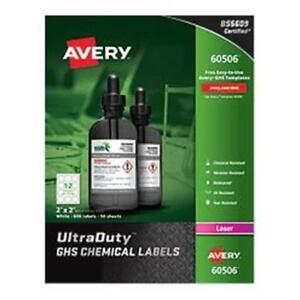Avery Ultra Duty GHS Chemical Labels