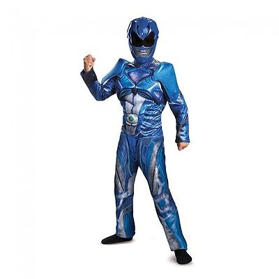 Disguise Power Ranger Blau Ranger Film Klassisch Muskel Halloween Kostüm 19082