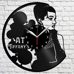 Breakfast at Tiffany's Vinyl Record Wall Clock Home Fan Art Decor 12 30cm 4285