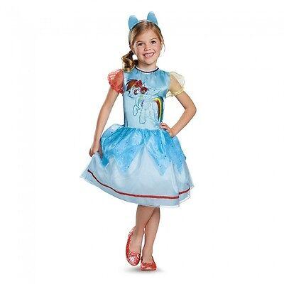Girls My Little Pony Costume Rainbow Dash Fancy Dress Toddler Kids Child - Mlp Rainbow Dash Dress