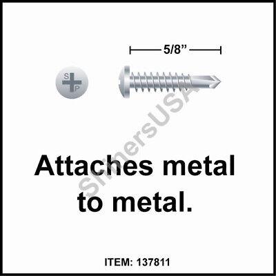 10000 Self Drilling Zinc Screw 8-18x58 Tek 2 Phillips Pan Head 137811