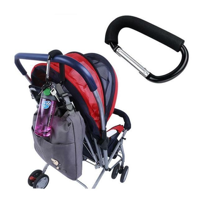 Strong Buggy Pram PushChair Clip Aluminium Stroller Pushchair Bag Hook Holder H
