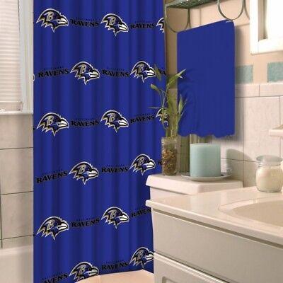 Baltimore Ravens NFL LOGO Fabric Shower Curtain (72x72) FREE US SHIPPING Baltimore Ravens Shower Curtain