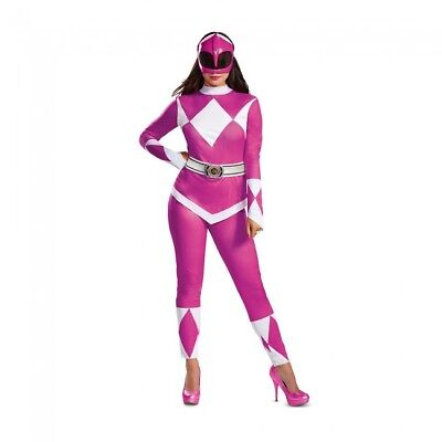 Disguise Power Rangers Pink Ranger Deluxe Adult Womens Halloween Costume 67333](Halloween Costume Deluxe)