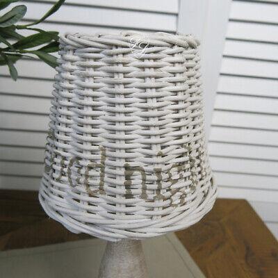 Rattan Lampenschirm Tischleuchte Maison Hamptons Maritim Sommerhaus Style Deko