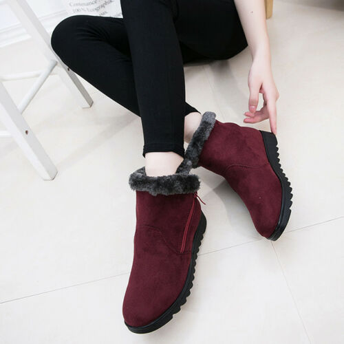 Women Winter Warm Shoes Casual Snow Cotton Ankle Boots Middle-Aged Shoes