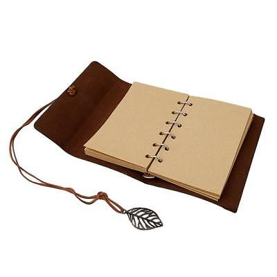 Vintage Journal Diary Notebook Blank Hard Leather Cover Sketchbook Paper KS