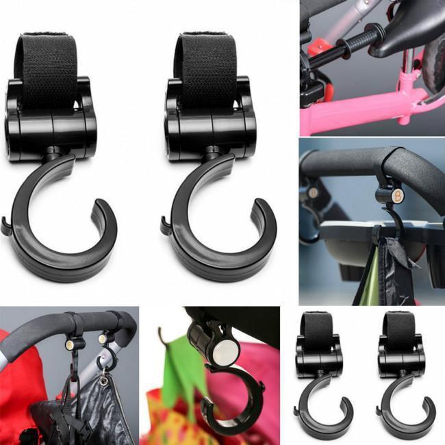 Baby Kids Pram Stroller Pushchair Swivel Hanger Hooks Carriage Bag Hook KV