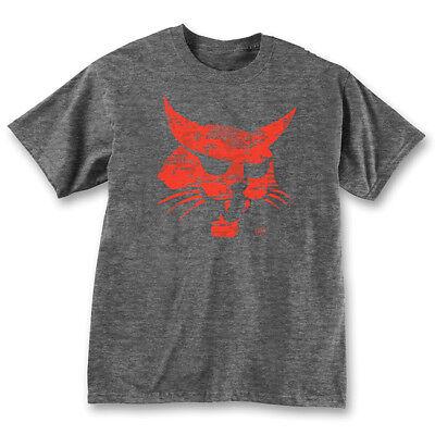 Bobcat Dark Heather T-shirt with Digital Print Logo 100% Cotton (Dark Heather T-shirt)