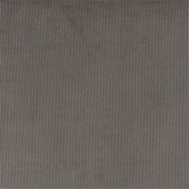 Designer Fabrics C187 54 in. Wide Grey Thin Solid Corduroy Striped Upholstery...