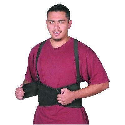 Back Support Belt Lumbar Safety Adjustable Suspenders Black 32 38 Medium