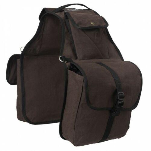 Tough 1 Brown Canvas Saddle Bags horse tack equine 61-9267