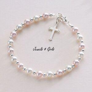 Baptême Bracelet pour Bébé Fille, Enfant, Cadeau pour