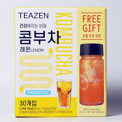 TEAZEN KOMBUCHA LEMON Powder Stick 5g X 30pcs (1Box) Diet Made in Korea BTS JK