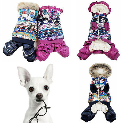 Winter Pet Puppy Dog Coat Snowman Apparel Costume Lovely Jacket Hoodie ClothesNJ - Dog Snowman Costume