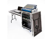 DJ/DAW Workstation 16u Rackmount Twin Table Flight Case in perfect condition