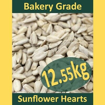 12.55kg Sunflower Hearts PREMIUM BAKERY GRADE Wild Bird Food Dehulled Kernels